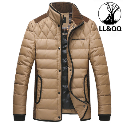 LLQQ Men Men Slim Down Collar short paragraph 2014 new authentic casual jacket thick winter