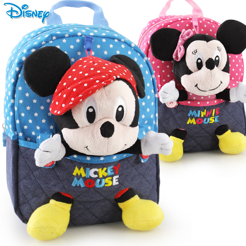 Children's school bag nursery bags cute baby doll backpack Disney Mickey bags for men and women in small bags