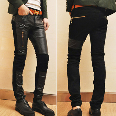 Korean men's tights for men's fashion casual pants, low-waist pants, pencil pants feet pants trend