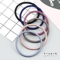 韩国韩版简约基础发圈素色无缝对接头绳高弹力耐用扎头发皮筋皮套