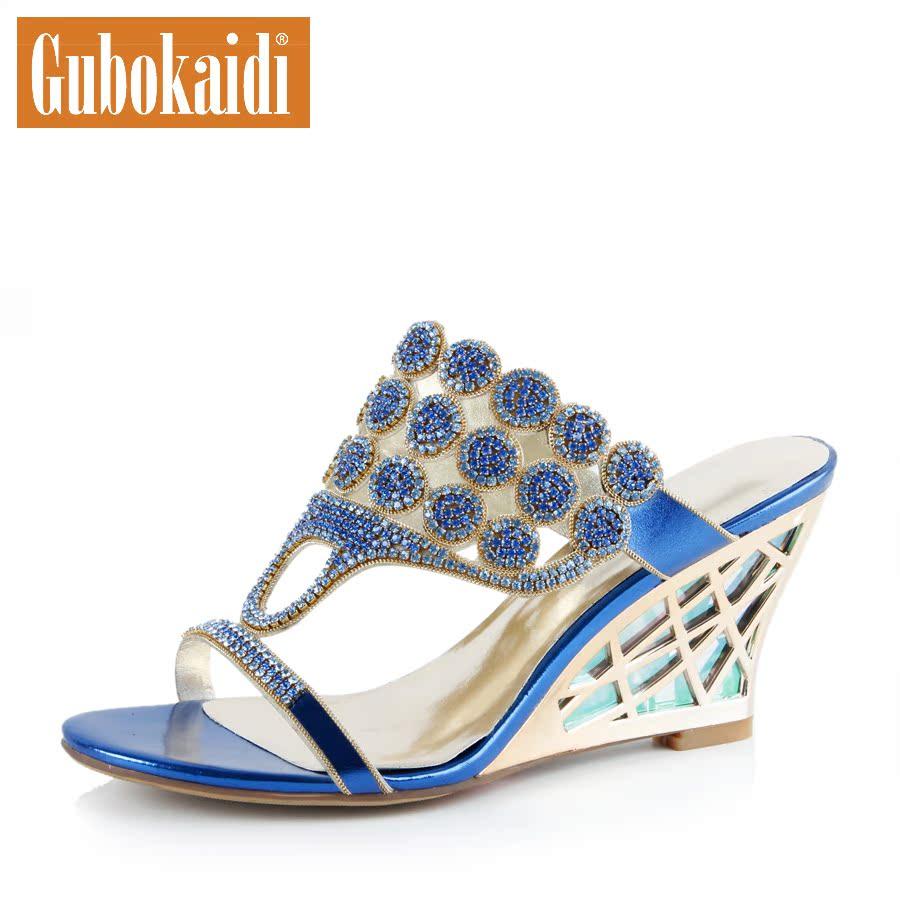 Босоножки Gubokaidi lx0001 2013 На высоком каблуке (6- 8 см) Лето 2013 Комбинированный материал