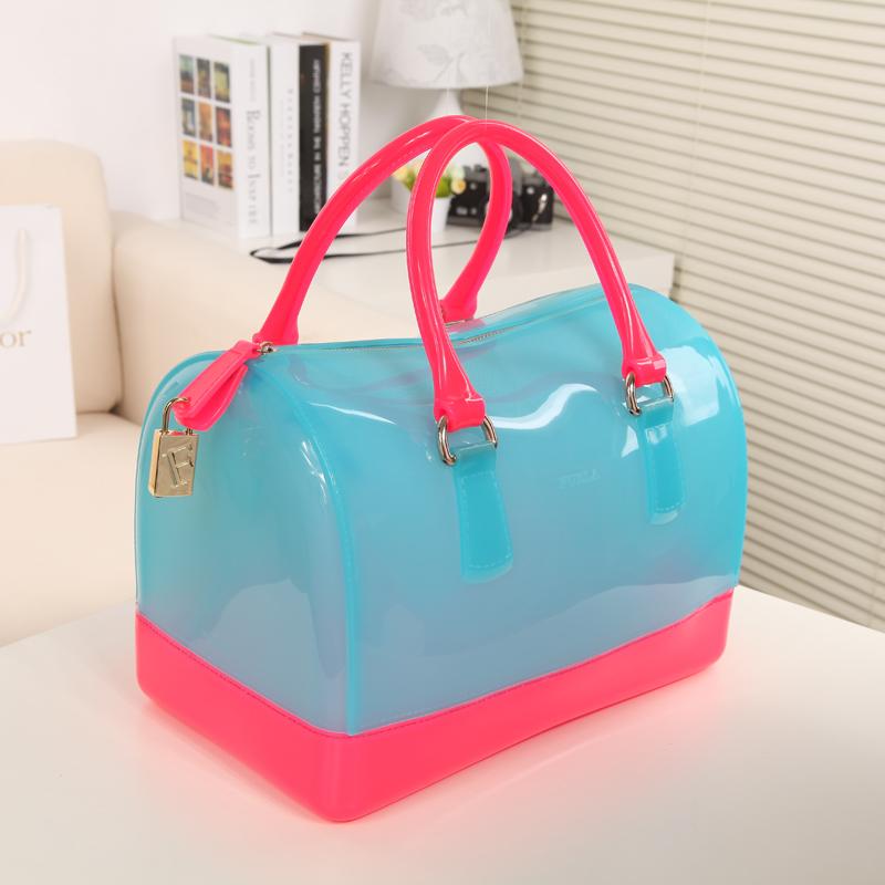 Сумка High-End версия желе конфеты цветные Бао фула FURLA конфеты bag2013 новый дизайн портативных скачков женщин сумки Девушки Женская сумка Однотонный цвет Другие материалы
