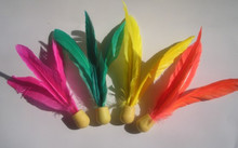 Original Shuttlecock Sanmao Elastic Rubber Ball Feather Super High Resistance to Fight More Resistant