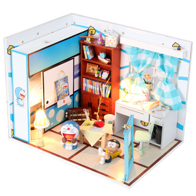 DIY cottage dream a dream duo Doraemon Doraemon cartoon hello kitty model Nobita's room