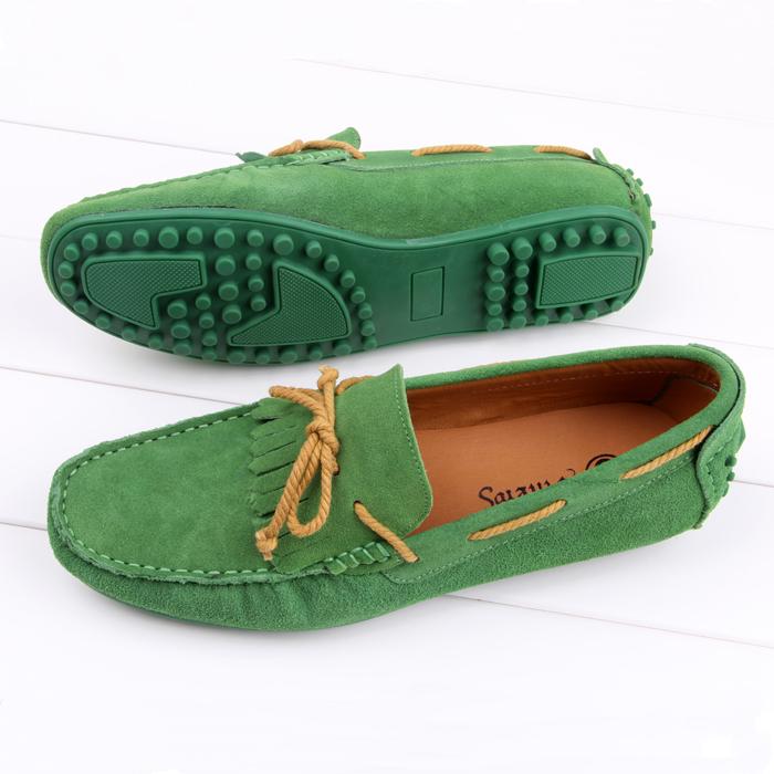 Демисезонные ботинки Fashion casual shoes he300 Мокасины Для отдыха Верхний слой из натуральной кожи Квадратный носок Шнурок Весна и осень