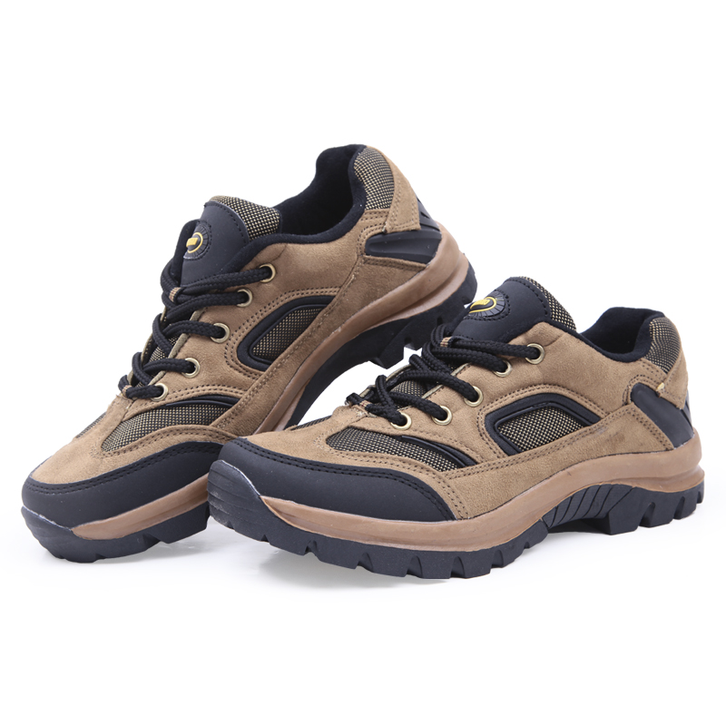 Leopard Mail spring/summer a genuine outdoor climbing shoes new mens suede casual walking shoes, cross country running shoes