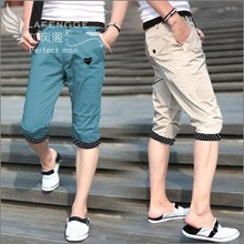 In the summer of 7 minutes of pants breeches han edition cultivate one's morality men's casual pants tide feet pants pants in the summer of haroun pants city boy pants