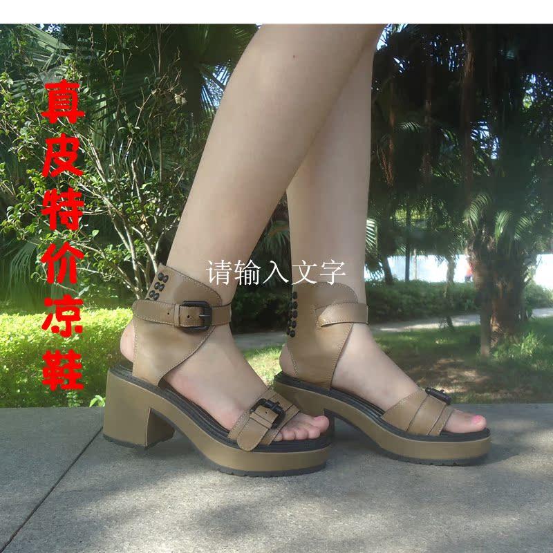 Босоножки Мода 2013 толстая Женская обувь на продажу Распродажа обуви торговли Ou Fannv обувь все действительно надоедает проводки кожа Женская обувь На высоком каблуке (6- 8 см) Лето 2013 Верхний слой из воловьей кожи