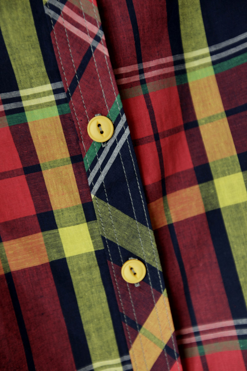 женская рубашка Плед мозаика посмотреть 2012 новое корейской версии лацкане рубашки специальное предложение Длинный рукав В клетку Отложной воротник Один ряд пуговиц