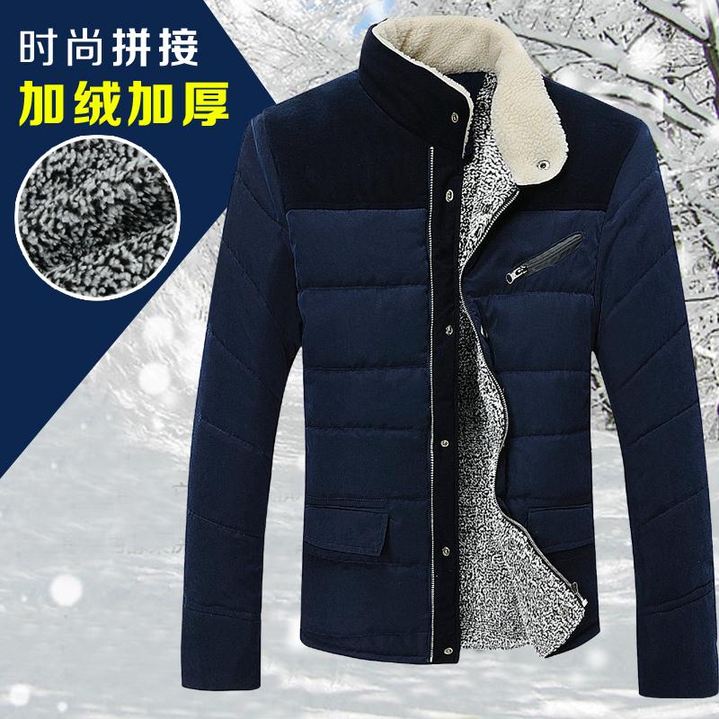 美特邦威斯冬装外套青年男夹克棉服韩版修身棉袄灯芯绒棉衣大码潮