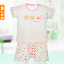 St. Kiloto doll 2013 new baby summer children's clothing girls and boys cotton t-shirt Shorts Set