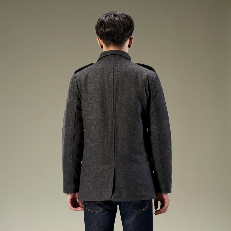 Пальто мужское Tonlion 2013 Шерстяная ткань для пальто Отложной воротник