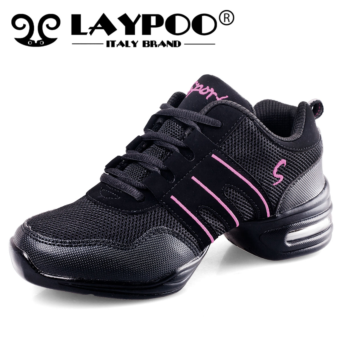 Increasing authentic modern dance shoes women's shoes non-slip soles and mesh ventilation leisure practice Dance Shoes Sneakers