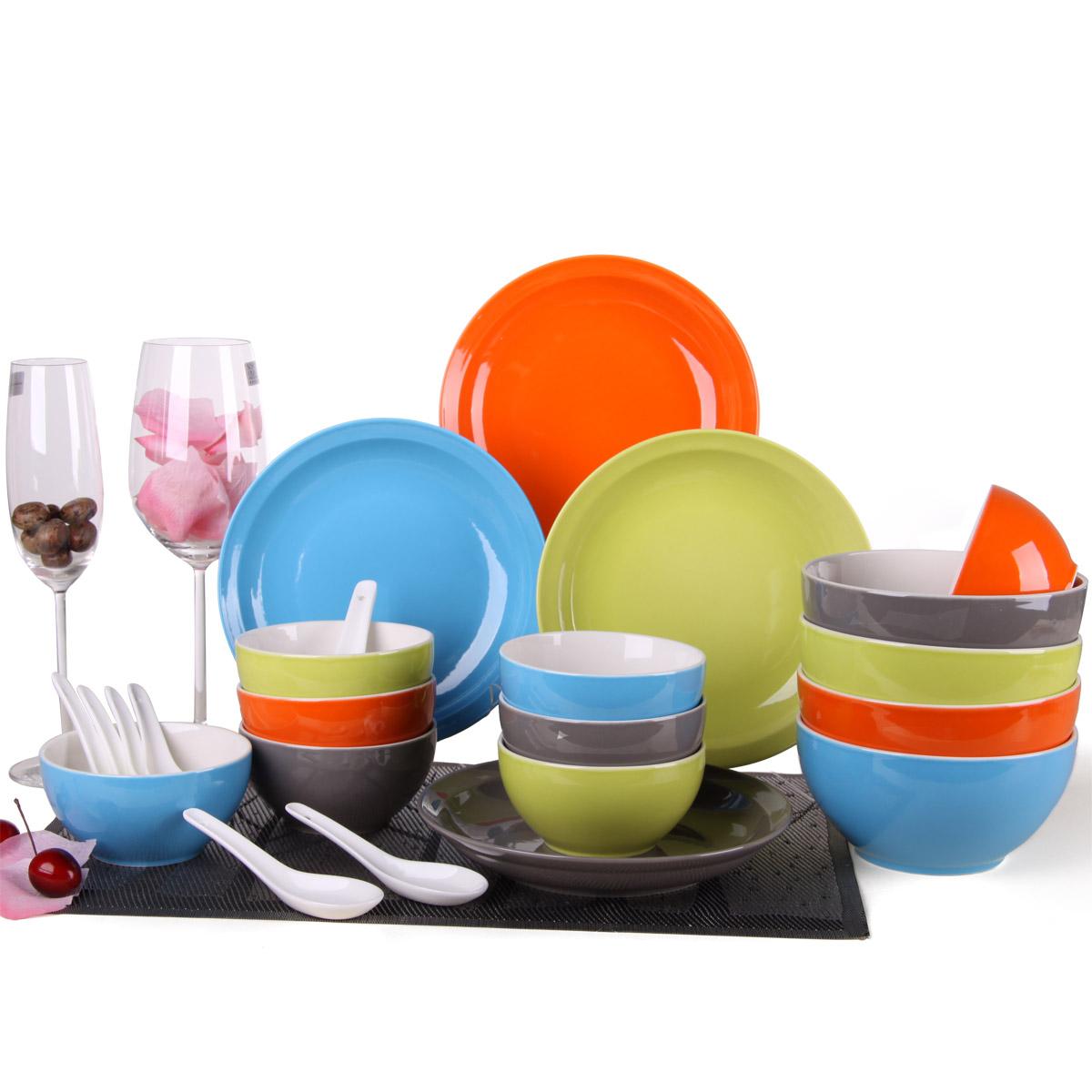 日日和 厨房用具餐饮用品骨瓷餐具套装瓷器餐具陶瓷餐具 24头