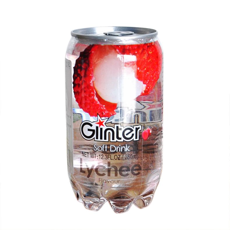 马来西亚进口饮料 运得牌饮料荔枝味含气饮料350ml 好喝的饮料