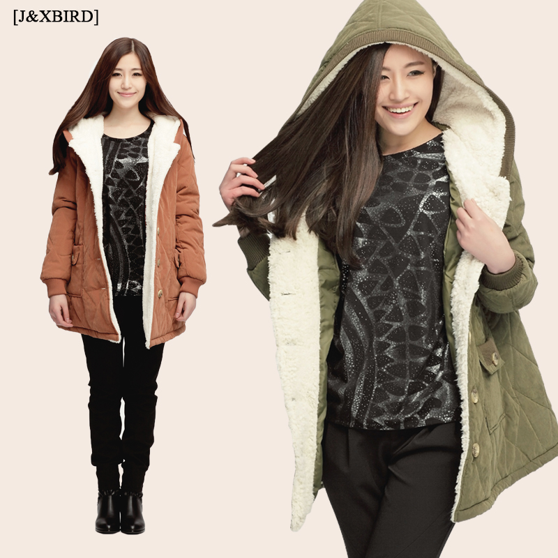 Taobao fall/winter-season clearance sale new Korean thin hooded long plus size women's clothing coat coats fat in MM