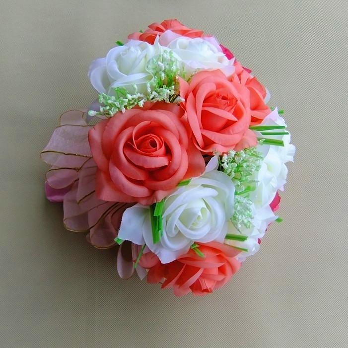 仿真花假花玫瑰 20朵韩式新娘婚礼仿真手捧花