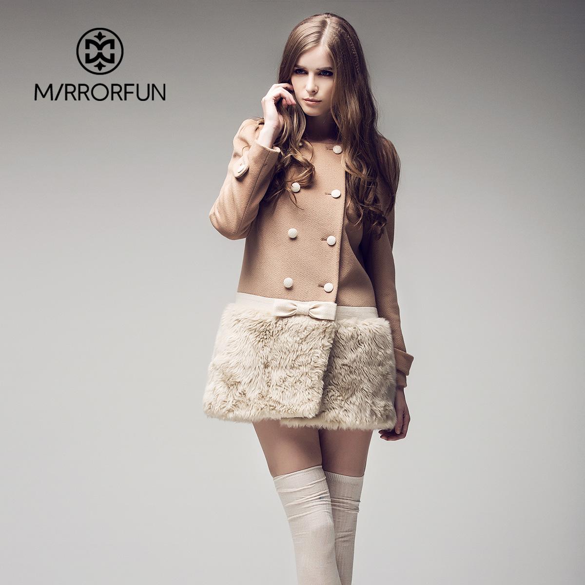 женское пальто Mirror Fun m34901 2013 Зима 2013 Средней длины (65 см <длины одежды ≤ 80 см) Mirror Fun Длинный рукав Классический рукав