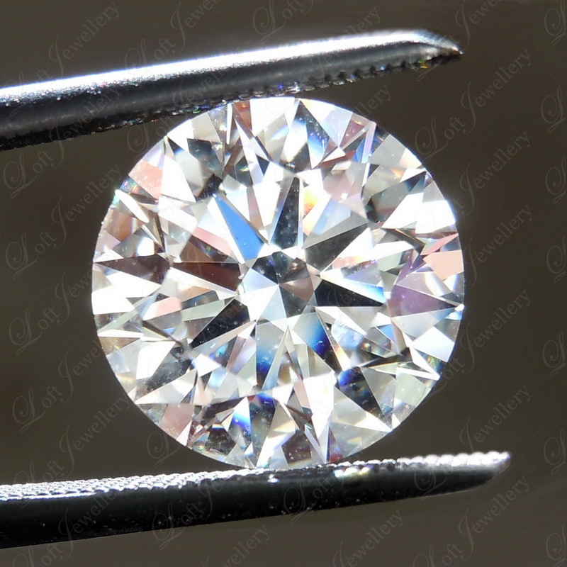 Loft珠宝 2.01克拉G色VVS2净度3EX N GIA裸钻定制结婚戒指钻戒