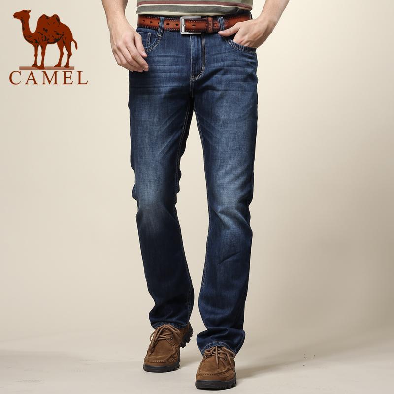 骆驼男装正品新款男士商务休闲直筒牛仔裤棉牛仔长裤子X079004