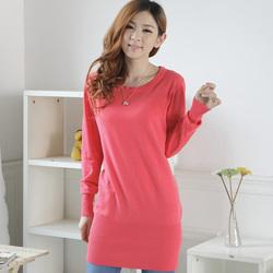 [疯抢一天]胖mm修身中长款大码女装 秋冬新款韩版保暖显瘦毛衣针织衫