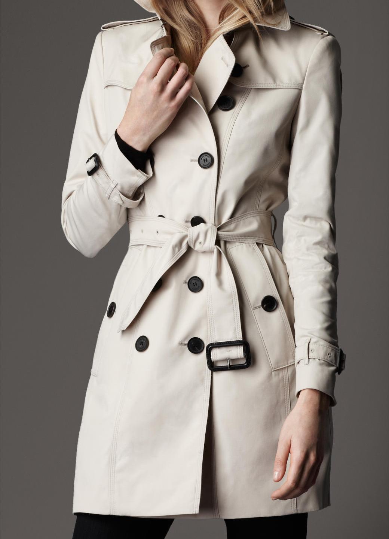 巴寶利burberry新款女裝/風衣 修身雙排扣 38342581美國代購圖片