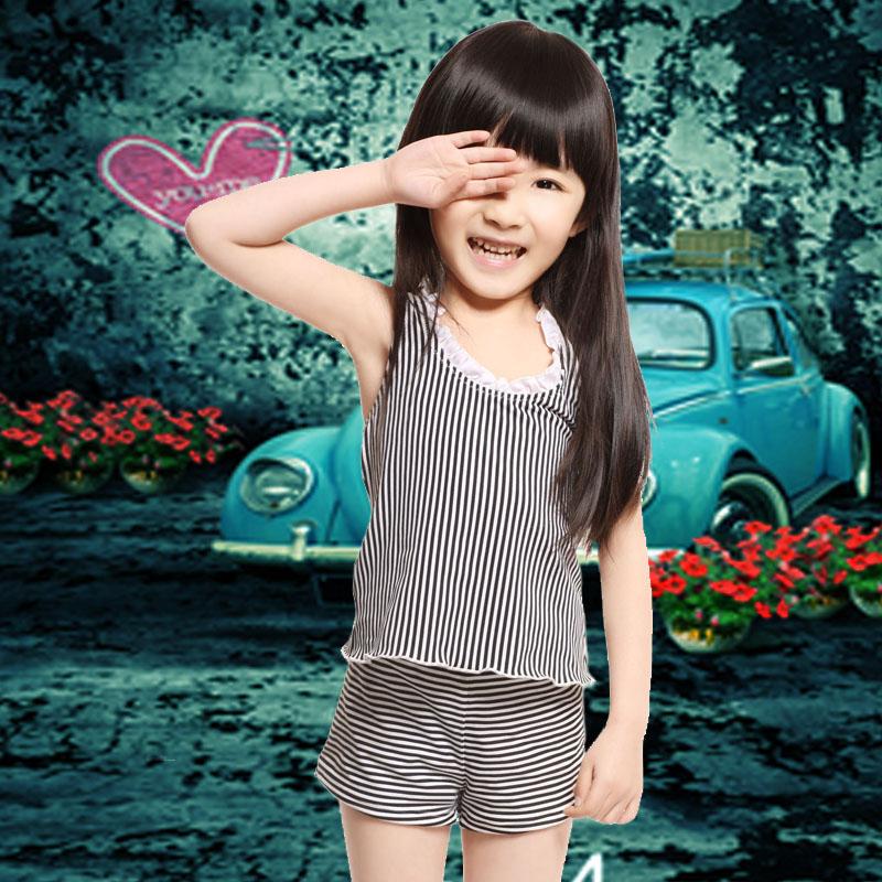 детский купальник Odekar 7502 Детский раздельный купальник Девушки Нейлон