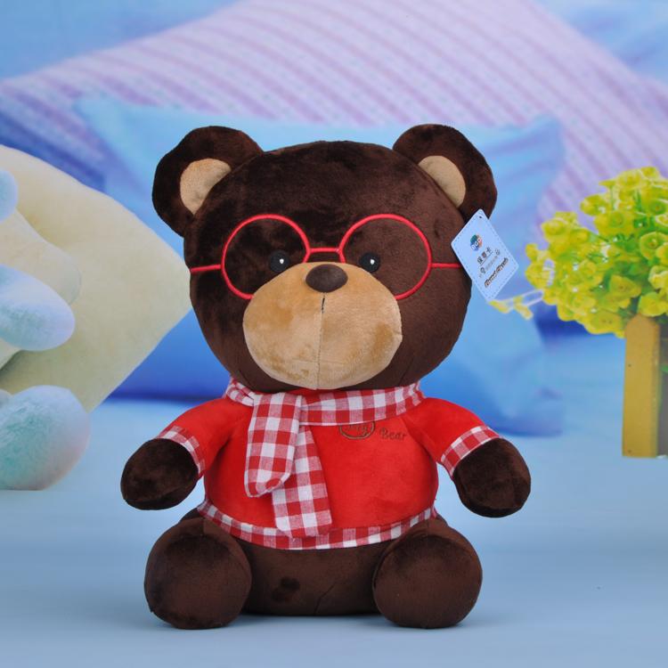 保蒂卡 毛绒玩具 熊熊 布娃娃 玩偶 博士熊 眼镜熊 围巾熊 公仔