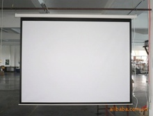 Authentic gold leaf projection screen 100 inch 4:3 and 16:9 hd electric projection screen double 12 sales plunged