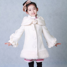 2012 new children's clothing girls coat korean version of the fall and winter clothes for children from wool coat princess coat long section