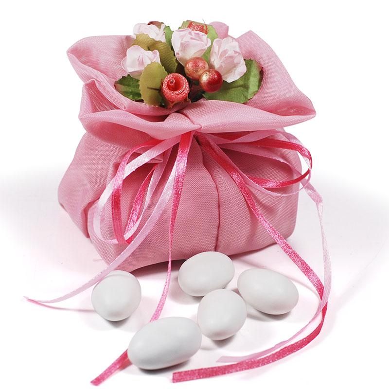 彩色爱袋-胭脂粉喜糖袋子