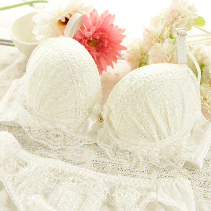 japanese girls sweet bra set underwear bra bra bra small fresh lace.