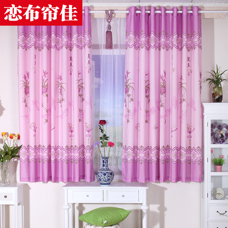 Full package mail pastoral curtains Piaochuang half finished a short half curtain curtain shade bedroom balcony bedroom curtains