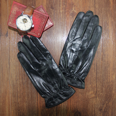 Spain imported goatskin leather driving gloves warm winter men's men's high-end motorcycle gloves thin section