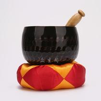 佛教用品批发纯铜法器台湾黑铜磬3.5寸-18寸铜庆铜钵佛音碗修行钵