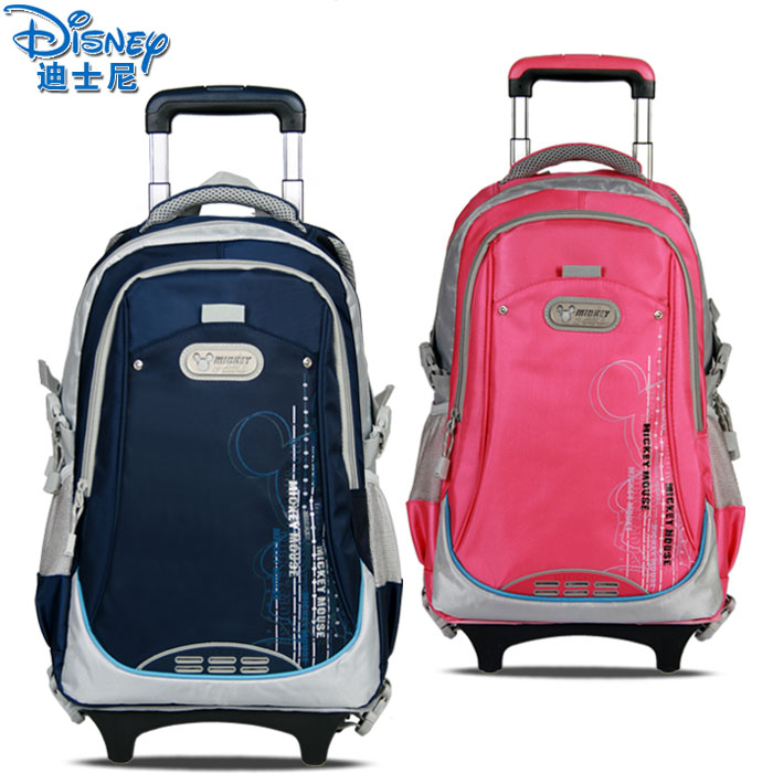 Trolley bag pupils Mickey Disney middle school students a genuine children's school bags for men and women with removable rain cover