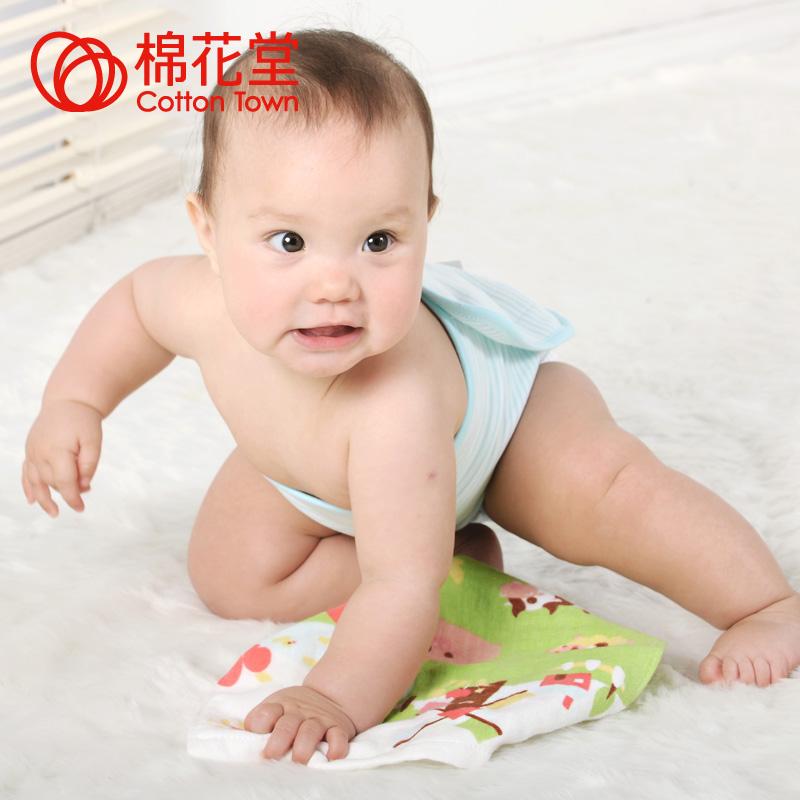 棉花堂 婴儿纱布方巾 儿童小手帕毛巾纯棉宝宝护肤小方巾多花色