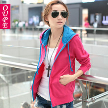 2013 spring new Korean Women Slim wild big yards long sleeve hooded cardigan sweater jacket Students