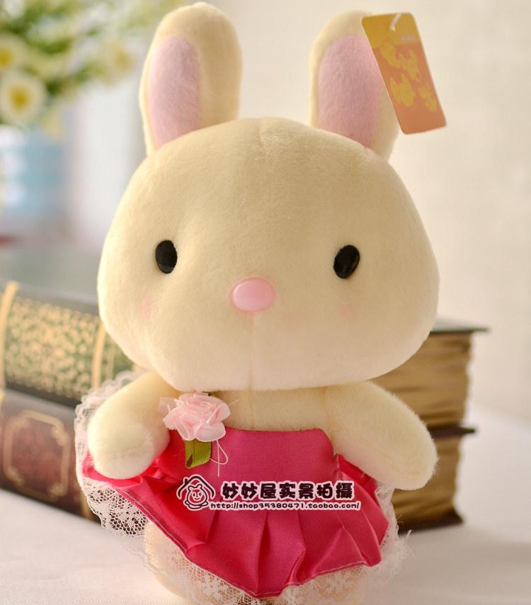 特价红裙小兔兔毛绒玩具 抓机娃娃 结婚婚庆活动礼品 小公仔批发