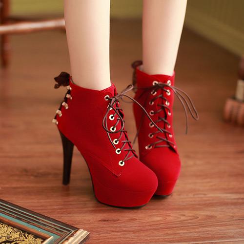 2013新款特大码婚鞋 加肥加大码性感夜店绒面高跟靴 34-43