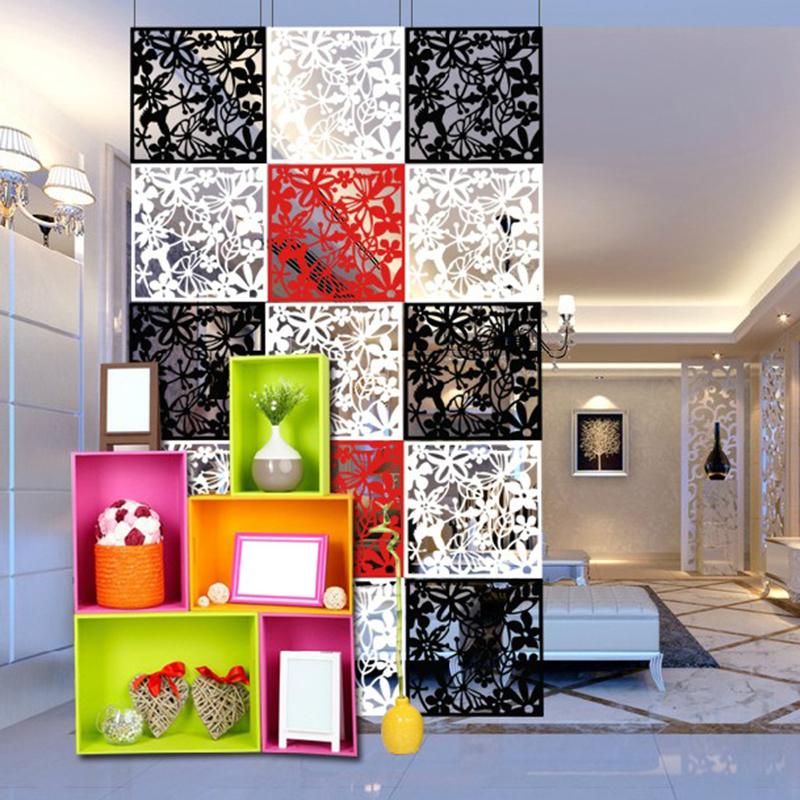 创意挂式木塑屏风 镂空窗花 装修必备 时尚墙贴 客厅隔断复古简约
