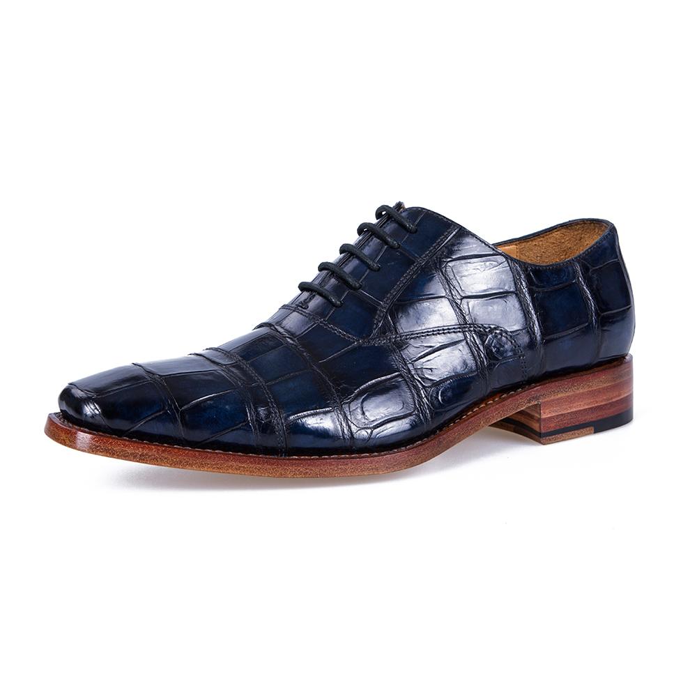 BOLREZA Таиланд Ручная работа Синяя Кружево Мужская обувь.