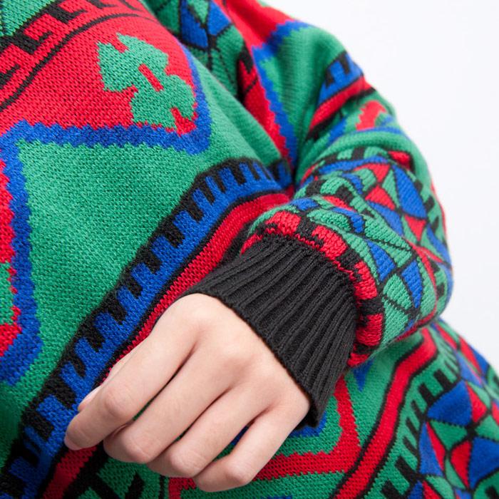 Свитер женский Zzlady ei1221 Акриловое волокно Осень 2012 Длинный рукав Объемный рукав Закругленный вырез
