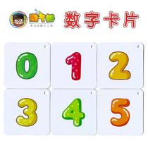 淘气郎 儿童看图数字卡片0-3-6岁宝宝幼儿早教认数识数1-100玩具
