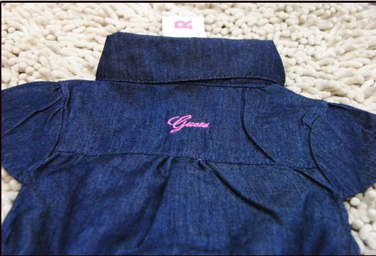 детское платье OTHER 2012 Плиссированная юбка Лето Джинсы Однотонный цвет Для отдыха