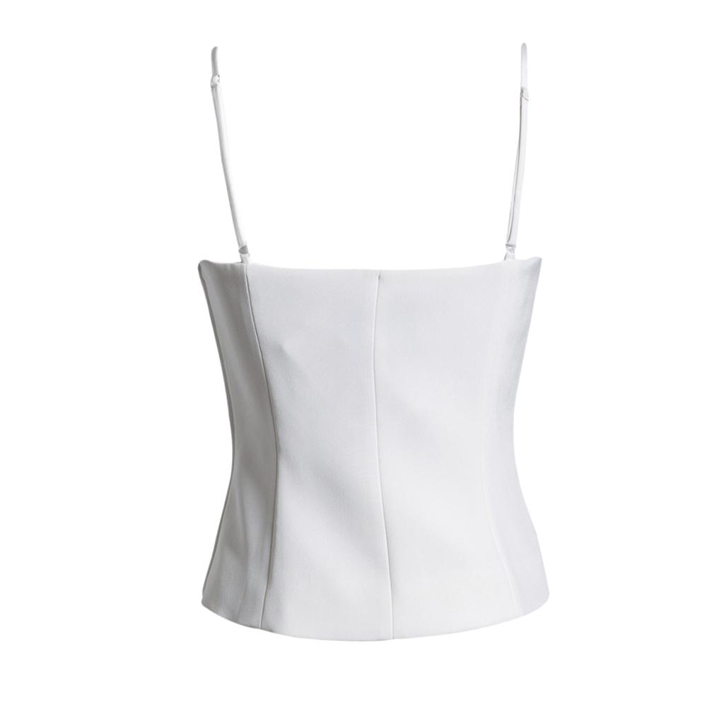 Топ White collar gnz12/001 GNZ12-001 Оригинальный дизайн Разные материалы Однотонный цвет