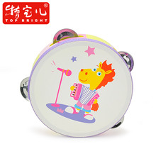 Boa Animal Orchestra Tambourines Kids Wooden Musical Instruments Bongos Baby Rattles a Tambourine 3 Optional