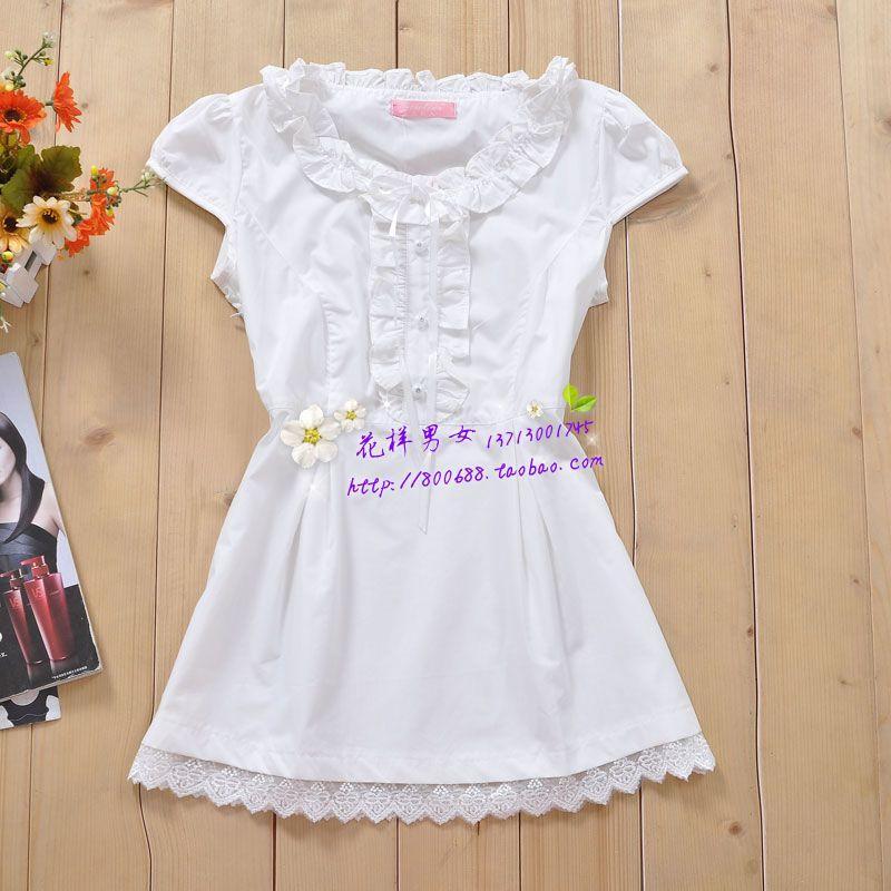 женская рубашка Yi Lin 9026 LA13 Повседневный Короткий рукав Однотонный цвет Лето 2012