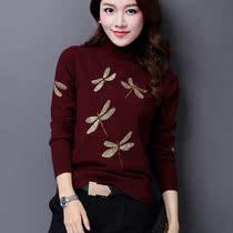 华哥弟情正品女装韩版修身羊绒羊毛衫加厚短款套头打底高领毛衣女