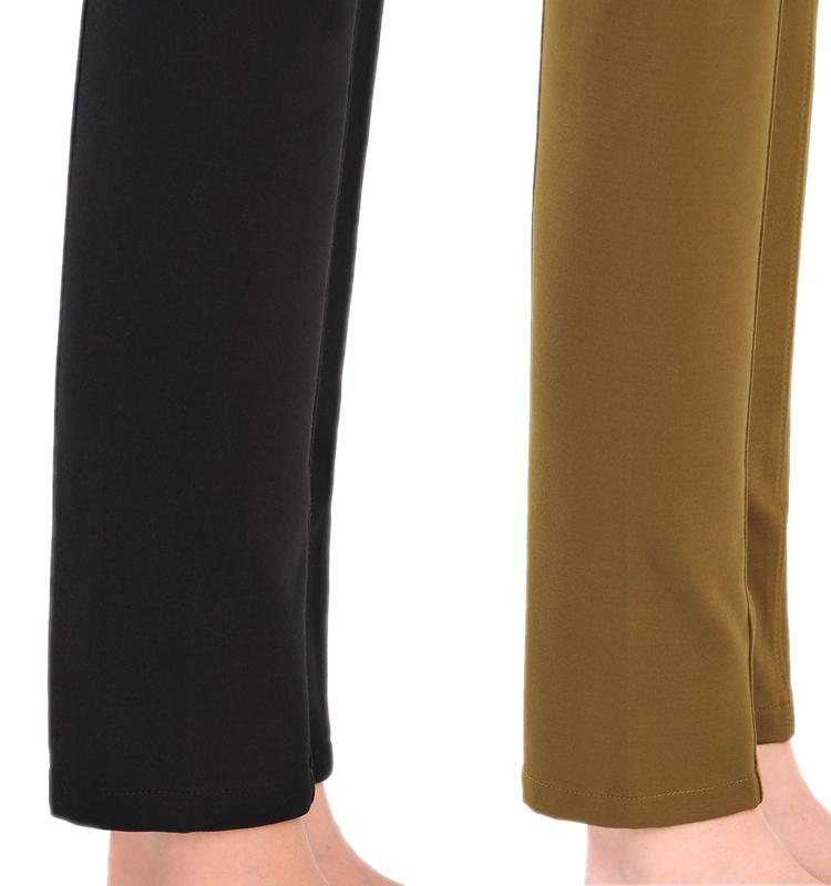 Женские брюки 2189 Mm Длинные брюки Узкие брюки-карандаш Утеплённая модель